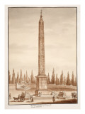 The Piazza Del Popolo Obelisk, from the Circus Maximus, 1833 Giclee Print by Agostino Tofanelli