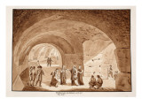 Pius Vii Visits the Works at the Colosseum, 1833 Giclee Print by Agostino Tofanelli