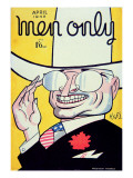 Cover for 'Men Only' Magazine Depicting Harry S. Truman Premium Giclee Print by  American School