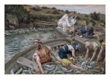 The First Miraculous Draught of Fish, Illustration for 'The Life of Christ', C.1886-94 Giclee Print by James Jacques Joseph Tissot
