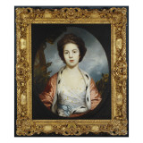 Portrait of Esther, Lady Wray, Wearing a White Dress, a Gold and Pink Ermine-Lined Cloak Giclee Print by Joshua Reynolds