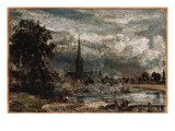 Salisbury Cathedral from Long Bridge Near Fisherton Mill Giclee Print by John Constable