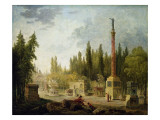 The Garden of the Musee Des Monuments Francais, 1795-1808 Giclee Print by Hubert Robert