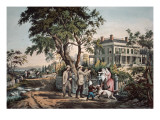 American Country Life - October Afternoon, 1855 Giclee Print by N. Currier