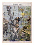 Divers Finding Treasure Plundered by Pirates from Churches, 1897 Giclee Print by  Austrian School