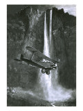 Jim Angel's Discovery of What Became to Be Called the Angel Falls in Venezuela Premium Giclee Print by  English School