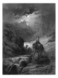 The Moonlight Ride, Illustration from 'Idylls of the King' by Alfred Tennyson, 1868 Giclee Print by Gustave Doré