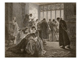 The English Embassy During the Massacre of St. Bartholomew Giclee Print by Philip Hermogenes Calderon