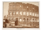 Restoration of the Colosseum from the Side of St. John Lateran, 1833 Giclee Print by Agostino Tofanelli