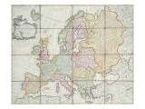 Wallis's New Map of Europe Divided into its Empires Kingdoms &C, 1789 Giclee Print by  English School