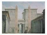 The Entrance to the Temple, Act I Scene Iii, Set Design for 'The Magic Flute' Giclee Print by  German School
