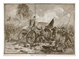 Pickett's Charge at Gettysburg, from a Book Pub. 1896 Giclee Print by Alfred Rudolf Waud