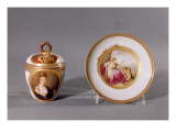 Meissen Cup, Cover and Saucer, Painted by Angelica Kauffmann Giclee Print by  German School
