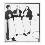 Garcons De Cafe, Illustration Form 'The Yellow Book', 1894 Giclee Print by Aubrey Beardsley