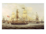 The Irish Packet in Two Positions Off Liverpool Giclee Print by Joseph Jenkinson