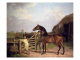 Bay Ascham', a Stallion Led Through a Gate to a Mare, 1804 Giclee Print by Jacques-Laurent Agasse