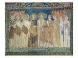 The Emperor Constantine Iv Grants Tax Immunity to the Archbishop of Ravenna Giclee Print by  Byzantine School