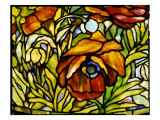 Detail of an 'Oriental Poppy' Floor Lamp, Tiffany Studios, 1902 Giclee Print by American School