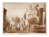 The Muro Torto, and Foundations of the Gardens of Domitian, 1833 Giclee Print by Agostino Tofanelli