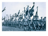 Parade of the Banner Company of the 'steel Helmets', Berleburg, 18-19th June 1932 Giclee Print by  German photographer