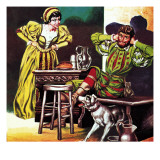 Petruchio and Katherine, from Shakespeare's Comedy, the Taming of the Shrew Giclee Print by Ron Embleton