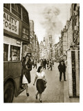 A V-1 Flying Bomb Lands in a Street Off Drury Lane, 1944 Giclee Print by English Photographer
