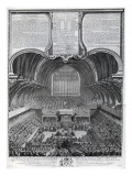 Trial of Simon Fraser, Lord Lovat, in Westminster Hall, Engraved by James Basire, 1747 Giclee Print by Samuel Wale