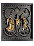 The Baptism of Christ, Panel from the South Doors of the Baptistry Giclee Print by Andrea Pisano