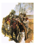 Captain Knox Lands in Ceylon in the Mid-17th Century Giclee Print by Neville Dear