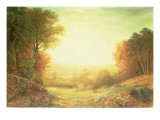 On Hampstead Heath in 1862 or When the Sun in Splendour Fades, 1862 Premium Giclee Print by John MacWhirter