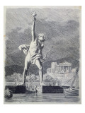 The Colossus of Rhodes, from a Series of the 'seven Wonders of the Ancient World', 1886 Giclee Print by Ferdinand Knab