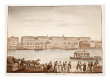Porto Di Ripa Grande and Ospizio Di S. Michele, 1833 Giclee Print by Agostino Tofanelli