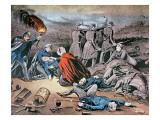 Clara Barton Tending Wounded During the American Civil War Premium Giclee Print by  American School