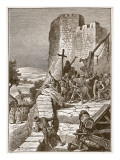 Procession of the Crusaders Round the Walls of Jerusalem Giclee Print by Edouard Zier