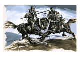 Roland and Oliver, the Warrior Friends, 1962 Giclee Print by Ron Embleton
