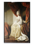 Portrait of Queen Charlotte, Full Length, Seated in Robes of State Giclee Print by Joshua Reynolds