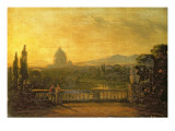 View of St.Peter's, Rome from the Terrace of a Villa Premium Giclee Print by Sir George Howland Beaumont