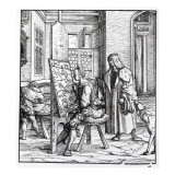 The Emperor in the Artist's Studio, Illustration from 'Der Weisskunig', C.1509-18 Giclee Print by Hans Burgkmair