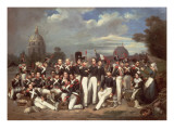Company of the Second Legion, in the Champ De Mars, Paris, 1836 Giclee Print by Auguste Antoine Masse