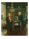 Bismarck with Emperor Wilhelm I in a Room in the Unter Den Linden Palace, Berlin Giclee Print by Konrad Siemenroth