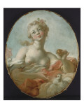 Mademoiselle Marie-Catherine Colombe as Venus Reproduction procédé giclée par Jean-Honoré Fragonard