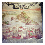 The Taking of Ten British Ships in Marbella in 1563 by the Alvaro De Bazan's Fleet Giclee Print by  Spanish School