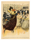 Satire of a Salon Musical Evening from the Back Cover of 'Le Rire', 17th December 1898 Giclee Print by G. Kadell
