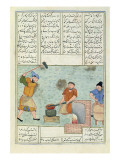 Ms C-822 Metal Forge, from 'shah-Nameh, or the Book of the Epic Kings', by Ferdosi Giclee Print by Persian School