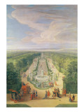 Perspective View of the Grove from the Galerie Des Antiques at Versailles, 1688 Giclee Print by Jean-Baptiste Martin