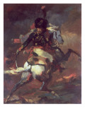 Officer of the Chasseurs Charging on Horseback Giclee Print by Theodore Gericault