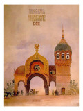 "Sketch of a Gate in Kiev, One of the ""Pictures at an Exhibition"" Giclee Print by Viktor Aleksandrovich Gartman"