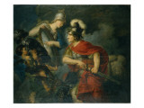 Minerva Showing Her Envy in the Polished Shield Giclee Print by Christian Bernhard Rode