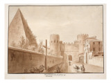The Porta Ostiensis or San Paolo, Built by Belisarius, 1833 Giclee Print by Agostino Tofanelli