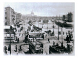 O' Connell Bridge and the River Liffey, Dublin, C.1900 Giclee Print by  Irish Photographer